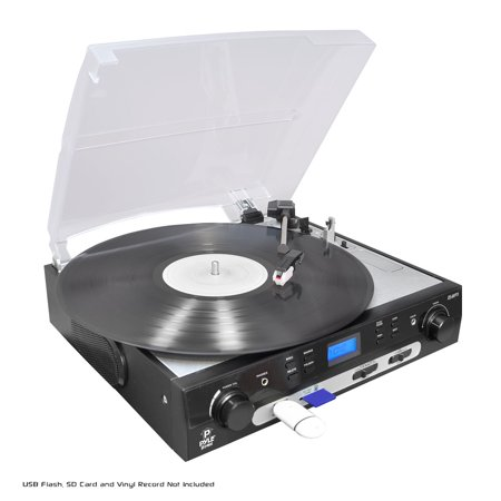 Conversion Turntable (PYLE PLTTB9U - USB Turntable with direct-to-digital USB/SD Card Encoder & Built-in AM/FM Radio conversion )