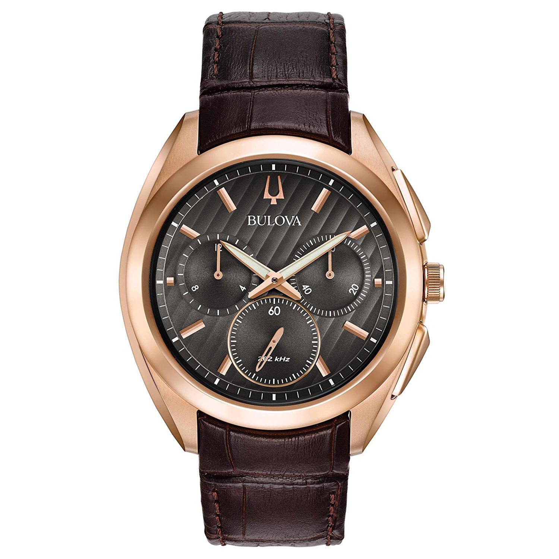 Bulova Men's Curv - 97A124 Stainless Steel/Rose Gold Watch
