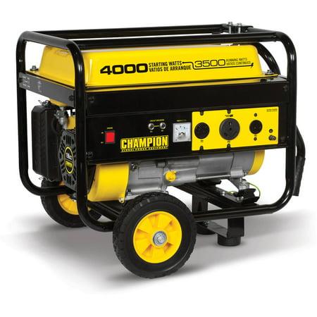 Champion 46597 3500-Watt RV Ready Portable Generator with Wheel Kit (Hydrogen Gas Generator Kit)
