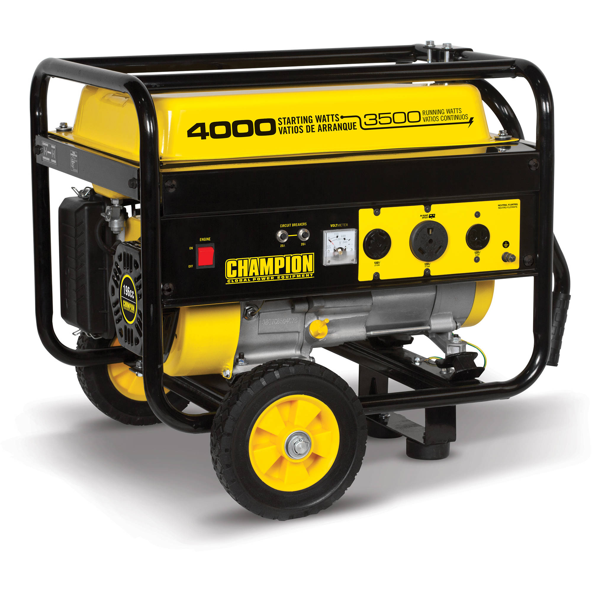 Champion 46597 3500-Watt RV Ready Portable Generator with Wheel Kit