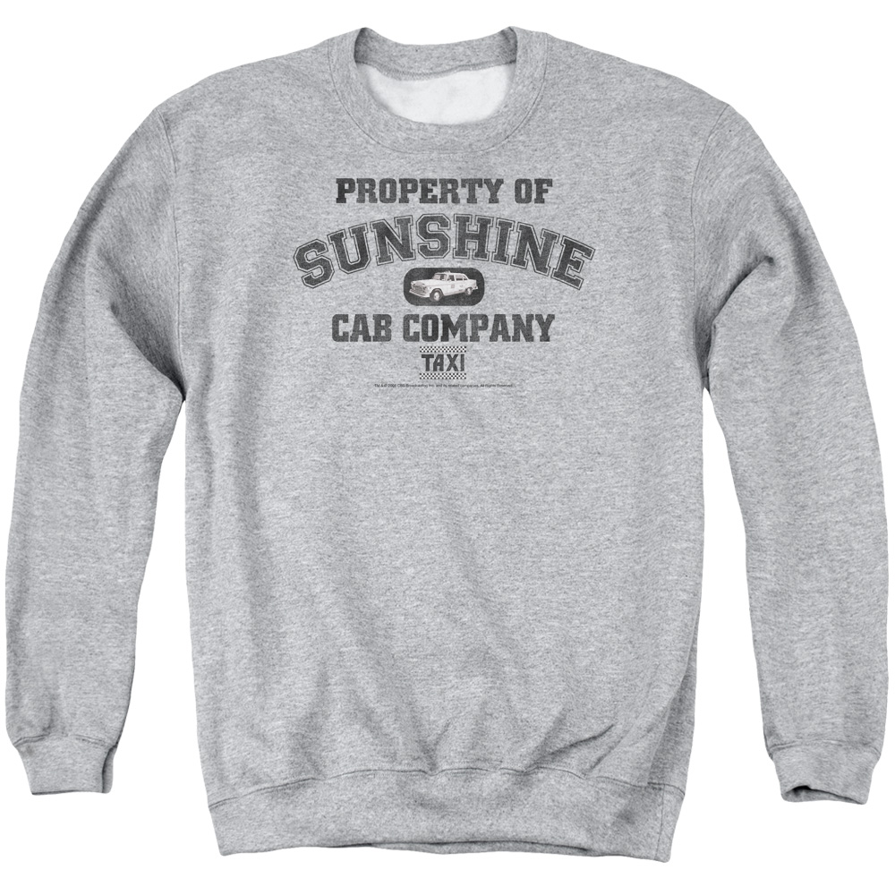 Taxi Property Of Sunshine Cab Mens Crewneck Sweatshirt