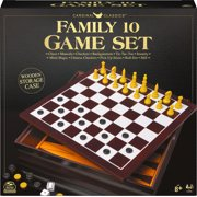 Family 10 Classic Games Set, for Families and Kids Ages 8 and up
