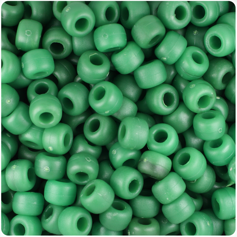 500pcs BeadTin Lure Yellow Transparent 9mm Barrel Pony Beads
