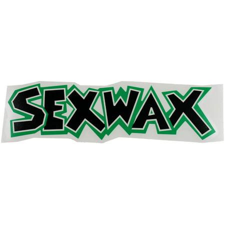 Mr  Zoggs Sex Wax Sticker 8  Die Cut Black Green