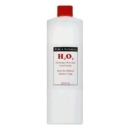 O W Food  H2O2 Hydrogen Peroxide (Contains 12% Aqueous Solution Food Grade H2O2) 16 fl.