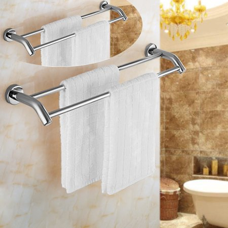 Chrome Stylish Bathroom Stainless Steel Wall Mounted Towel Rail