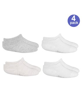 Fruit of the Loom Stay-on No Show Perfect Socks, 4-Pack (Baby Boys or Baby Girls, Unisex)