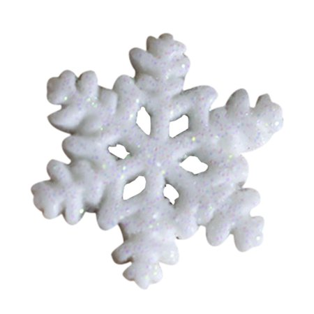 10Pcs Classic White Snowflake Ornaments Christmas Holiday Party Home - Snowflake Decor