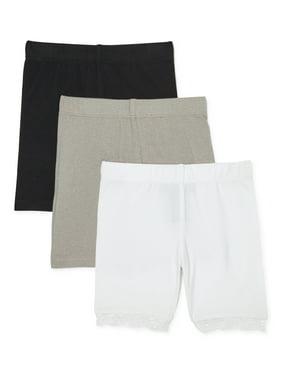 Dreamstar Girls Solid Bike Shorts, 3-Pack, Sizes 2-16