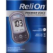 ReliOn Premier VOICE Blood Glucose Monitoring System