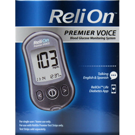 ReliOn Premier VOICE Blood Glucose Monitoring