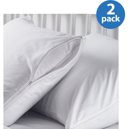 AllerEase Hot Water Washable Zippered Pillow Protector, 2pk