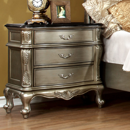 Hokku Designs Raylene 3 Drawer Nightstand