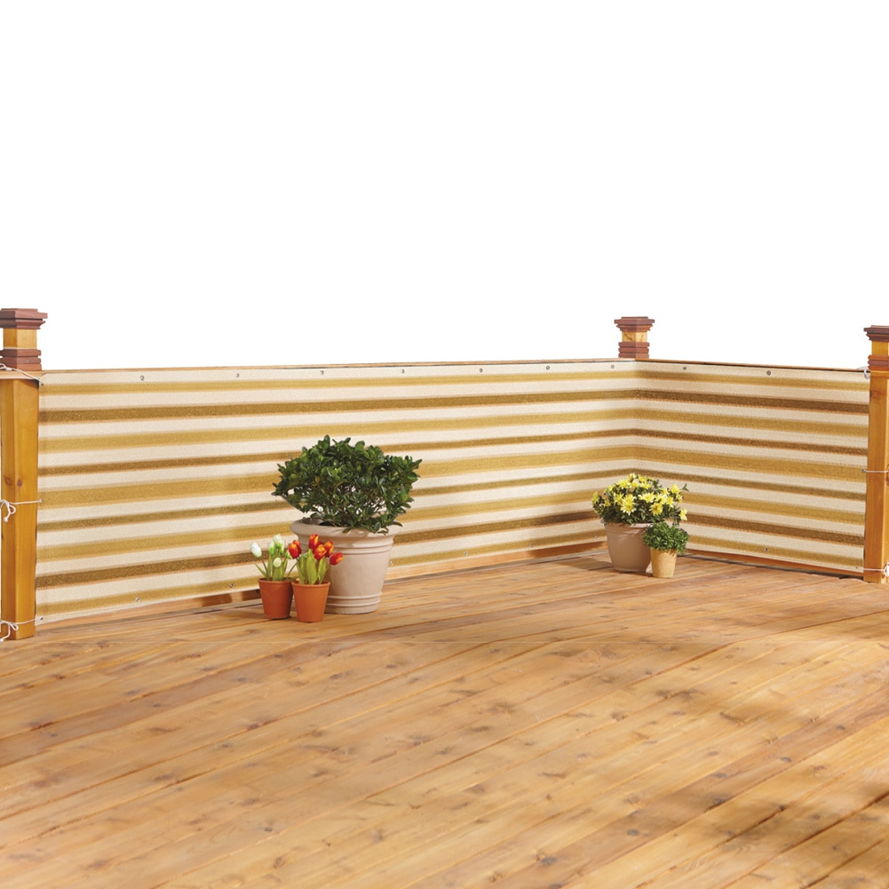 Deck & Fence Privacy Netting Screen, Brown Stripe by Collections Etc
