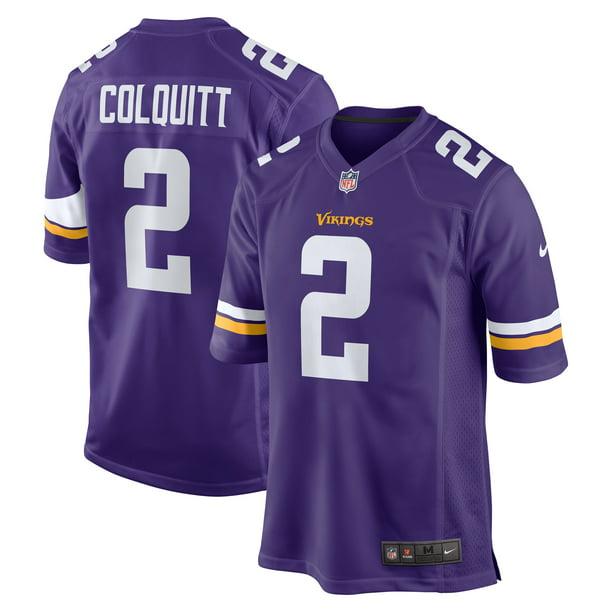 Britton Colquitt Minnesota Vikings Nike Game Jersey - Purple