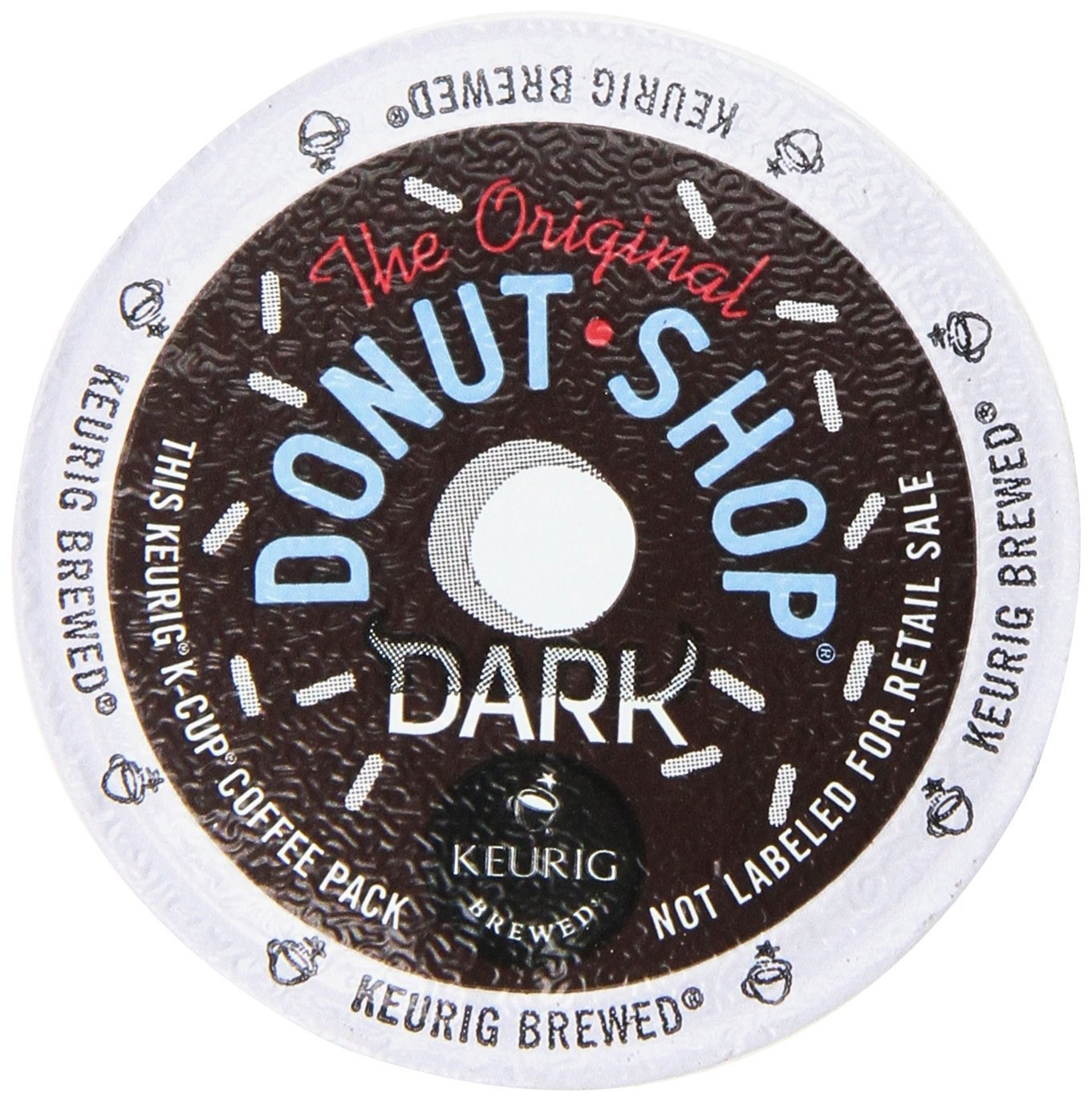 Donut Shop Donut Shop Dark Roast Extra Bold Coffee, K-Cups, 12 CT (Pack of 6)