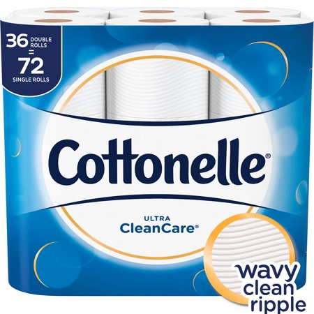 - Cottonelle Ultra Clean Care Toilet Paper, 36 Double Rolls