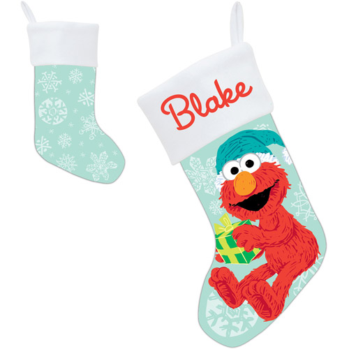 Personalized Sesame Street Holiday Elmo Stocking