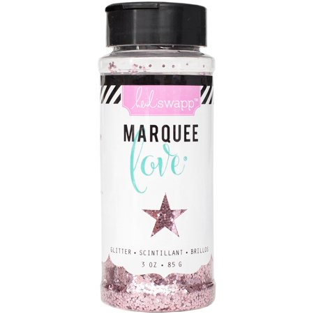 American Crafts Heidi Swapp Marquee Love Collection Chunky Glitter Jar Light Pink 3 Ounces