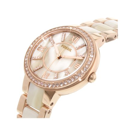 3bd01ac16db Fossil Women s Virginia ES3716 Rose-Gold Stainless-Steel Plated Japanese  Quartz Fashion Watch ...