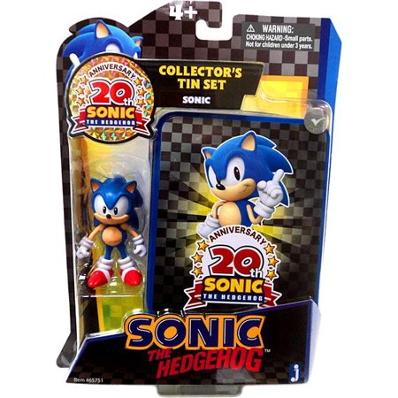 20th Anniversary Action Figure - Sonic The Hedgehog 20th Anniversary Sonic Action Figure [Collector's Tin Set]