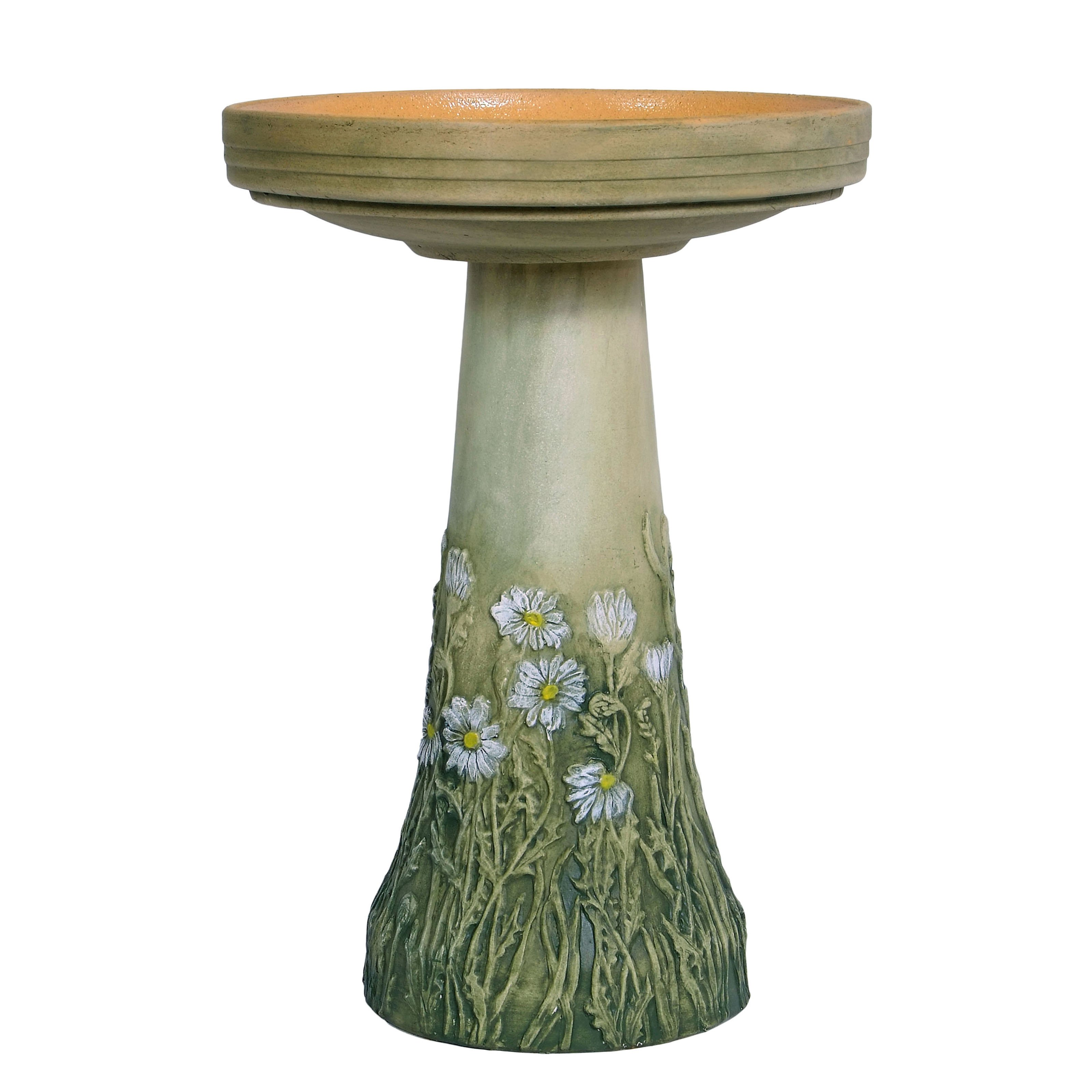 Birds Choice Burley Clay Birdbath Daisy by Birds Choice