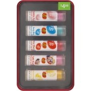 Jelly Belly Flavored Lip Balms Gift Set, 0.12 oz, 5 count