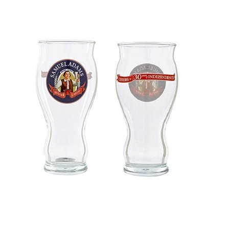 Samuel Adams 30th Anniversary Sensory Boston Lager Glass, Set of 2, Set of 2 Rare 16 Ounce 30th Anniversary Perfect Pints By Samuel Adams Brewery,USA