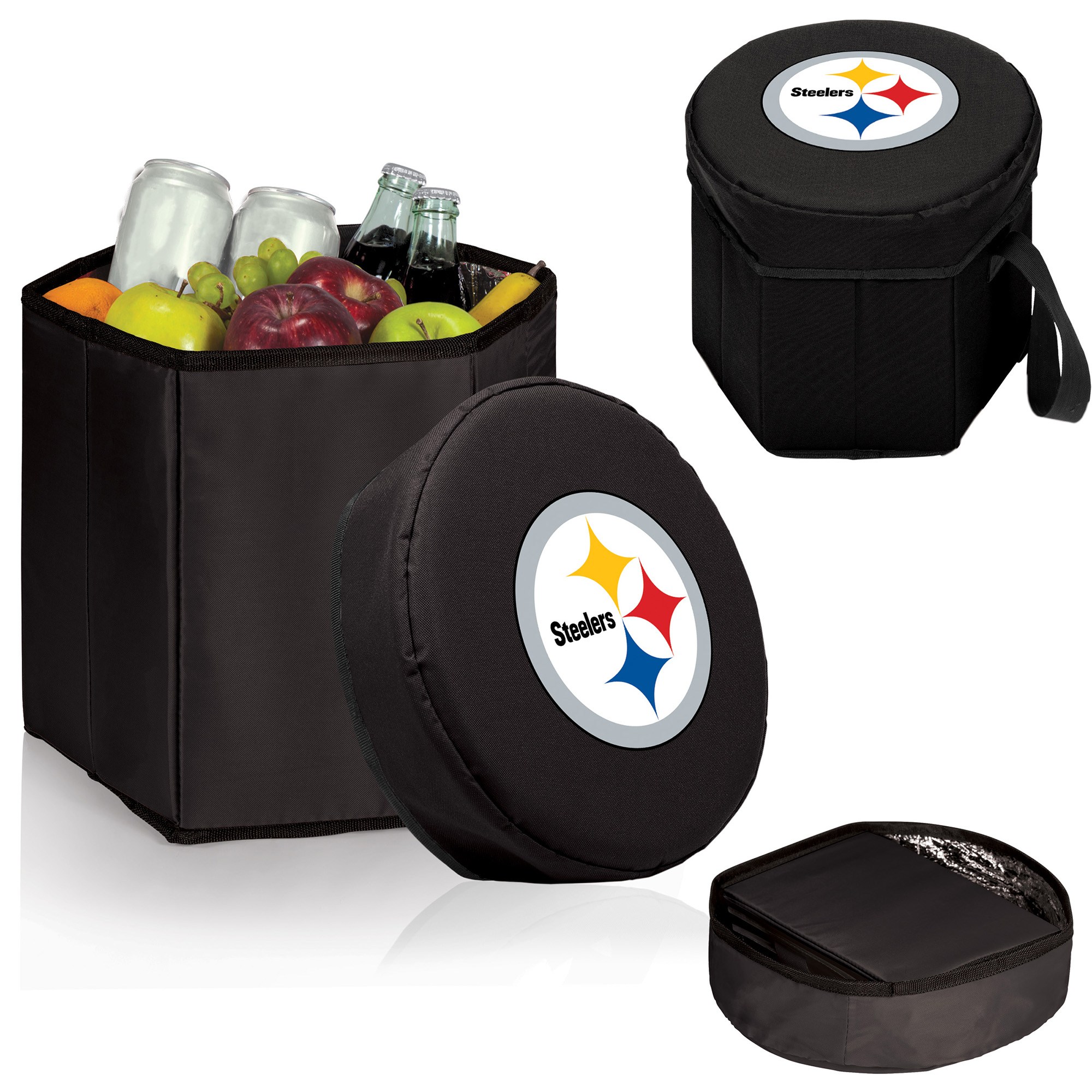 Pittsburgh Steelers 12 Quart Bongo Cooler - Black - No Size