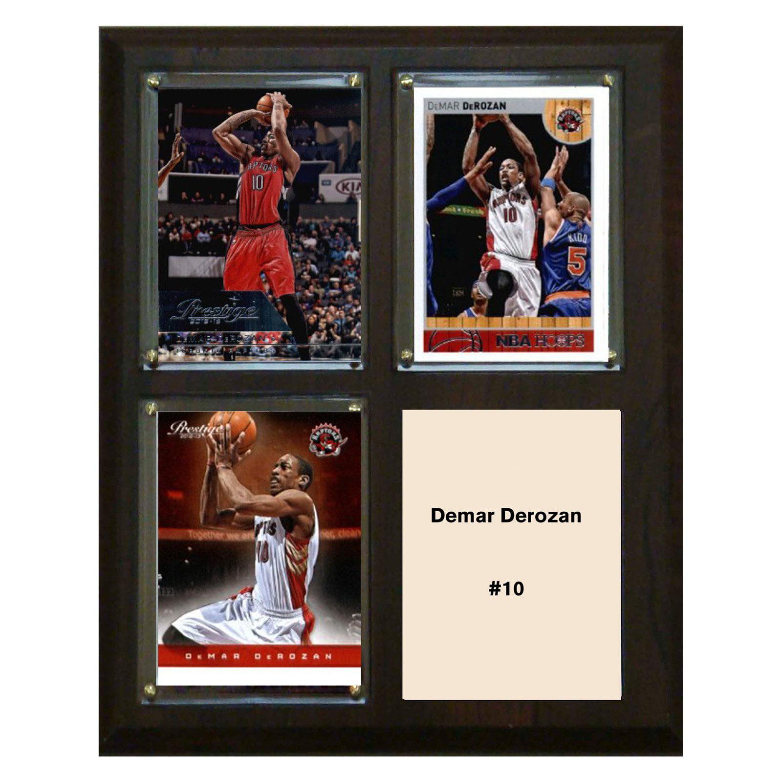 """C & I Collectables NBA 8"""" x 10"""" Demar Derozan Toronto Raptors 3-Card Plaque"""