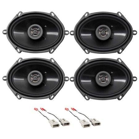 Ringer Speaker - Front+Rear Hifonics Speaker Replacement Kit For 1994-1997 Ford Ranger