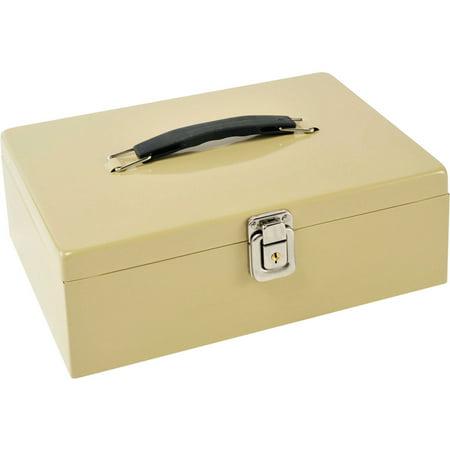 MMF MMF221612003 Locking Latch Cash Box Sand