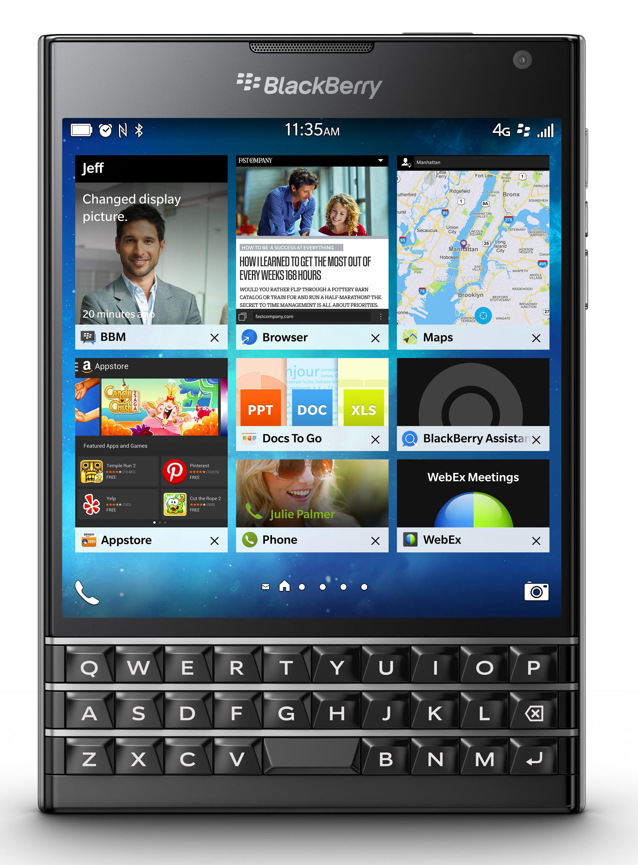 Celular BlackBerry pasaporte SQW100-1 GSM desbloqueado con teclado 3-fila - negro + BlackBerry en VeoyCompro.com.co