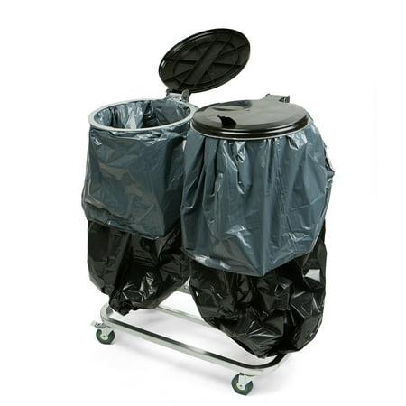 Mind Reader Dual Portable Trash Bag And Garbage Bag Holder