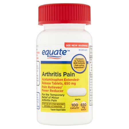 equate arthrite Caplets, 100 count
