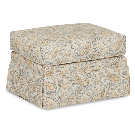 Klaussner Foote Skirted Gliding Ottoman (Klaussner Hybrid)