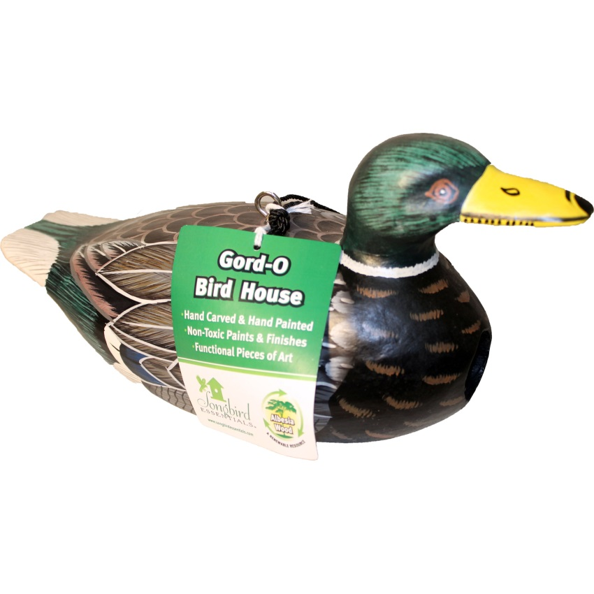 GORDO MALLARD DUCK BIRD HOUSE - SE3880039, (Pack of 1)