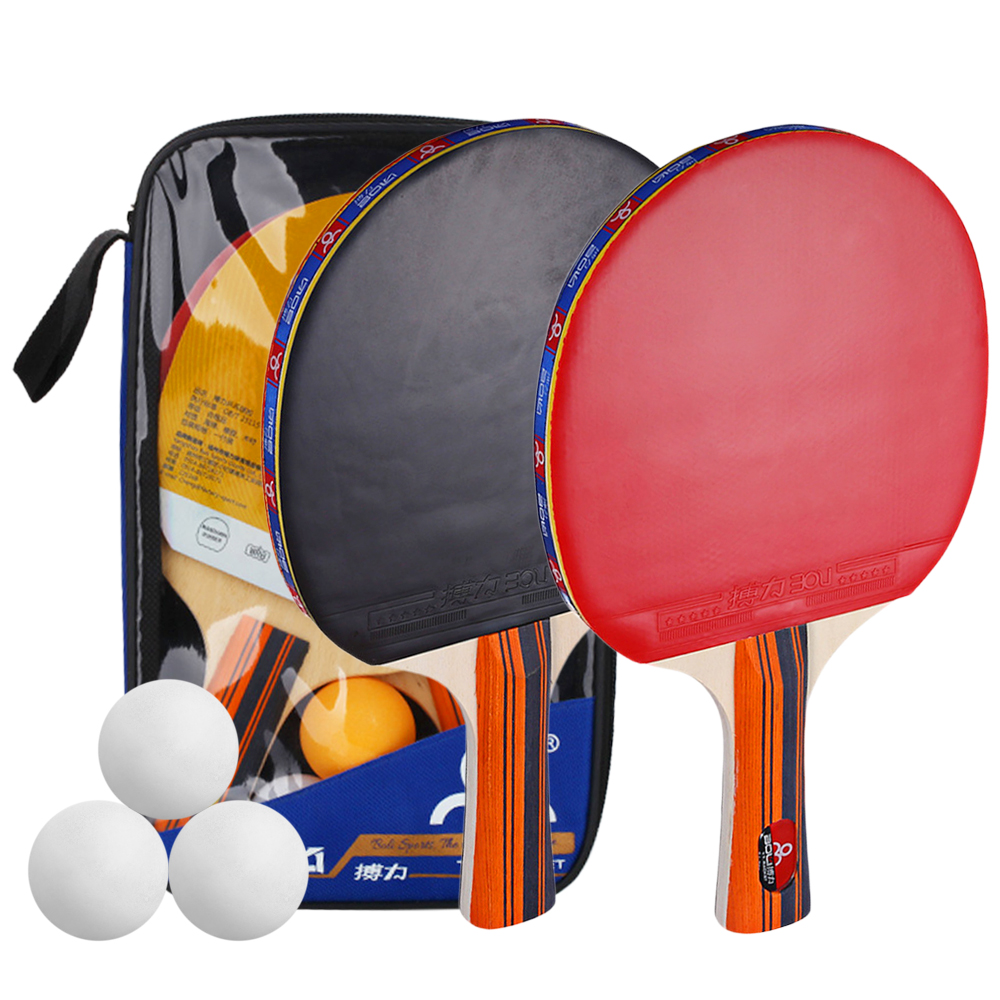 Details about  /Ping Pong Paddle and Table Tennis Set Pack of 4 Premium Rackets and 10 Balls