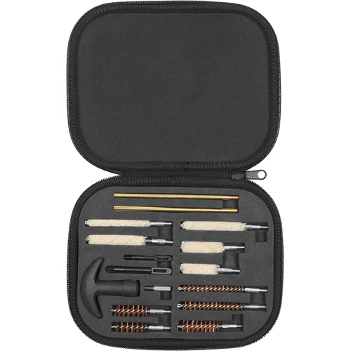 Allen Handgun Cleaning Kit In Compact Molded Carry Case, .22-.45 Caliber