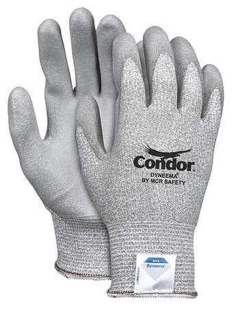 Cut Resistant Gloves,Gray,L,PR CONDOR 30YP30