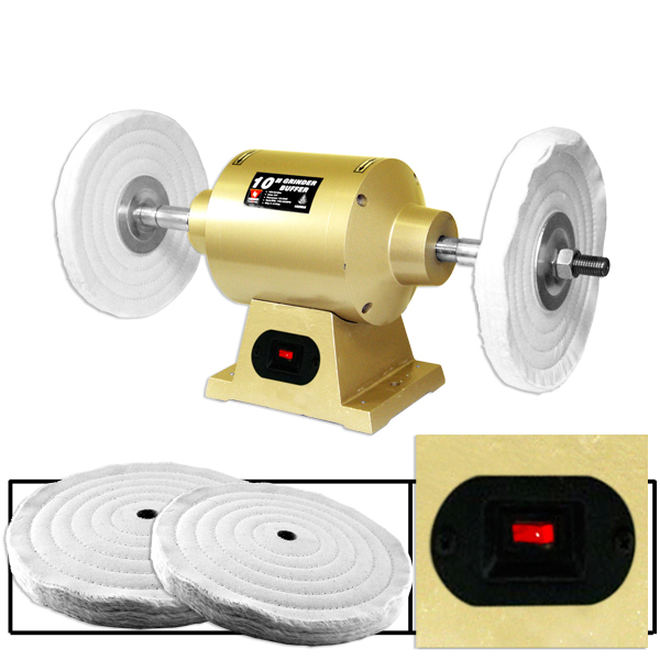 """6"""" Electric Bench Grinder Buffer Power Tools Auto Body Polisher by Neiko Tools"""