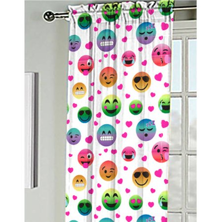 Emoji Pals Kids Bedroom Curtain Panel