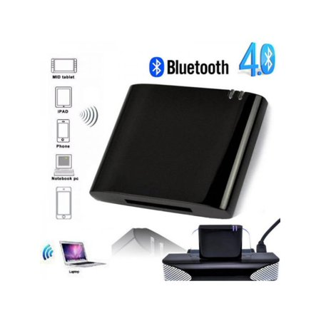 MarinaVida 30 Pin Bluetooth Music Receiver Audio Adapter for iPod iPhone Dock Speaker ()
