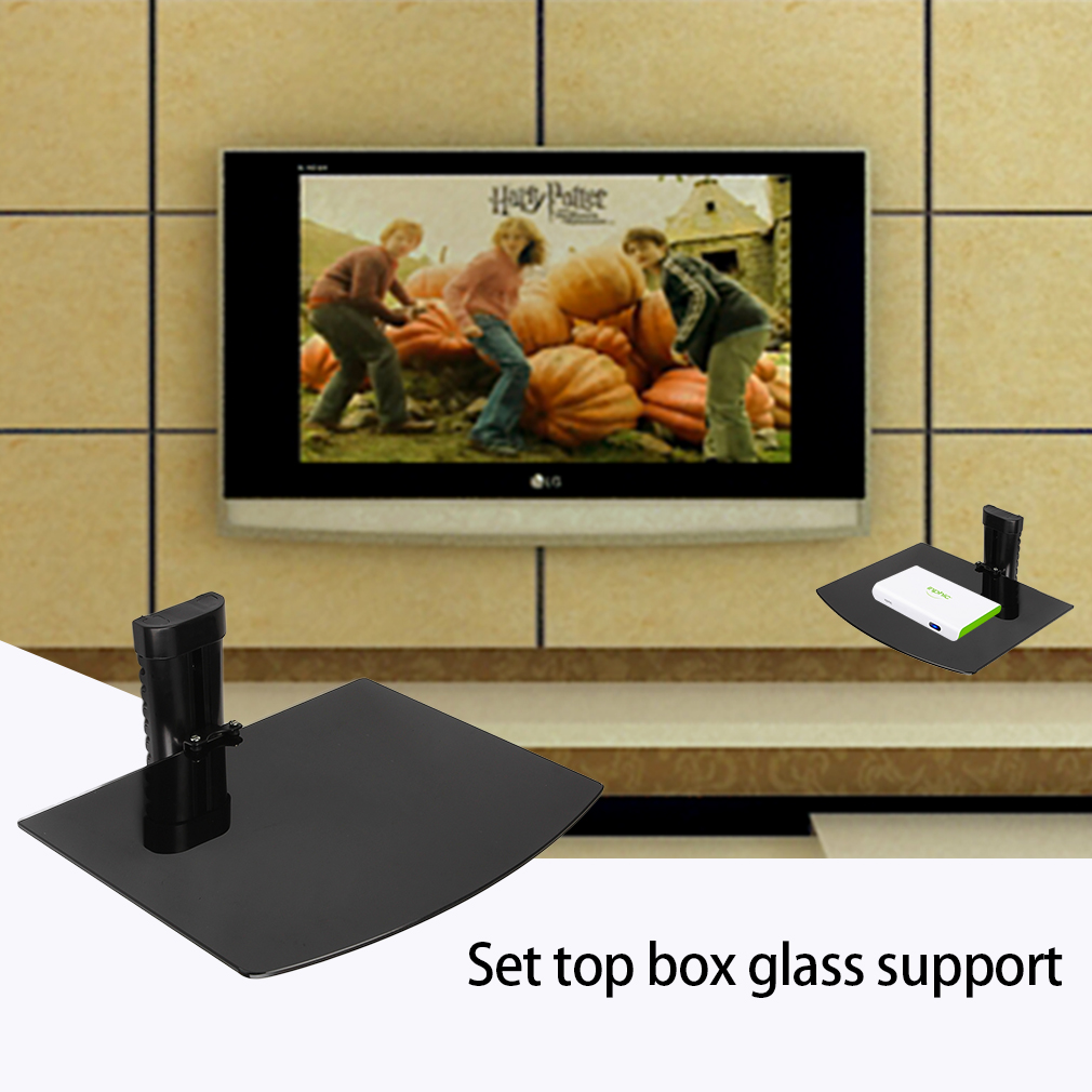High Quality Adujstable Wall Mount Shelf for DVD TV Box Black by
