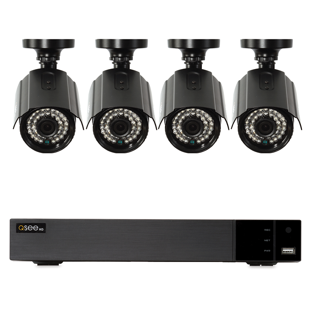 Q-See 4 Channel Security System AHD with 4x1080p Cameras, 1TB HDD