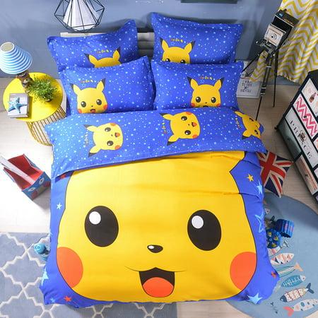 Cartoon Bedding Set Quilt Cover Bed Sheets Pillowcases Bedroom Bedding Walmart Canada