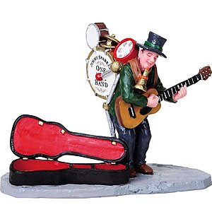 2008 One Man Band Christmas Village FigurinePolyresin Figurines By Lemax - Lemax Halloween Village Clearance