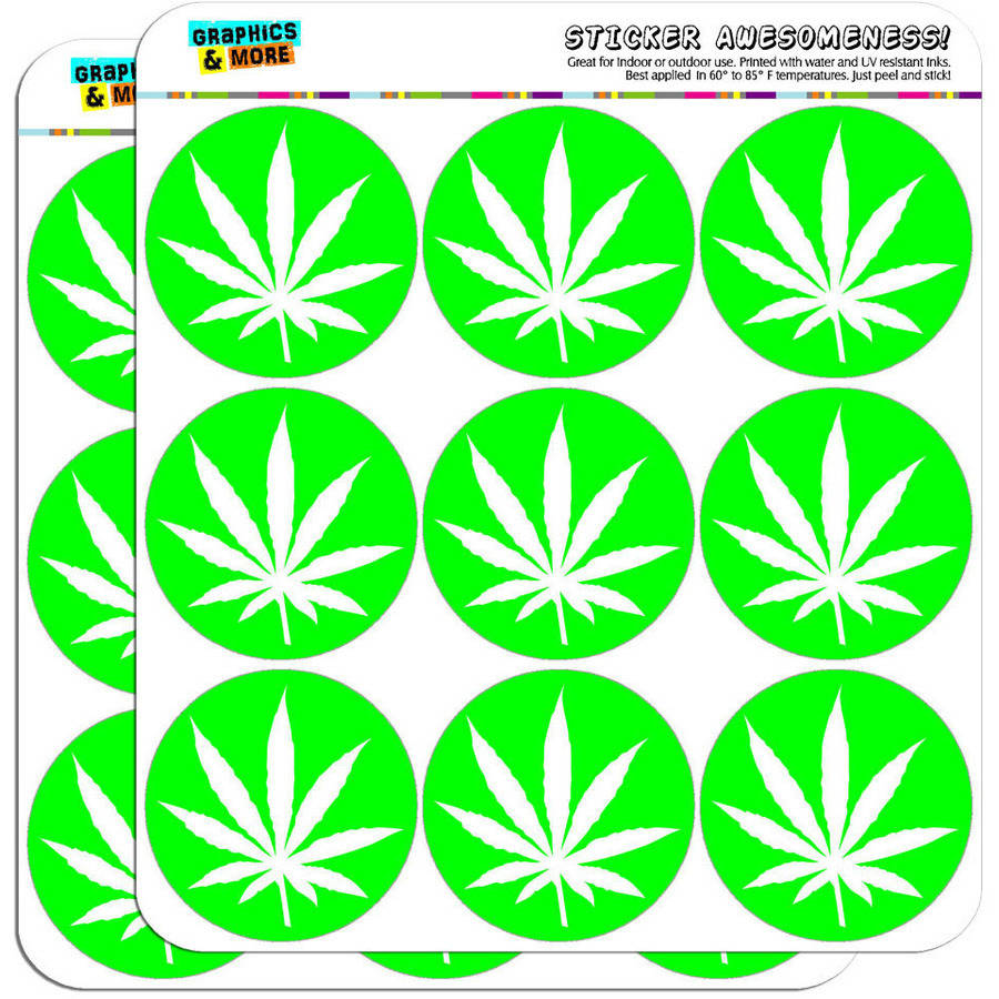 "Marijuana Pot Weed Leaf Green 18 2"" Planner Calendar Scrapbooking Crafting Stickers"