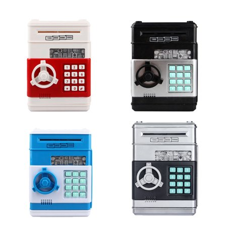 Cartoon Electronic Piggy Bank Cash Coin Can, Electronic Money Bank, Mini ATM Money Saver Coin Bank Password Box Saving Banks, Great Gift Toy for Kids Children