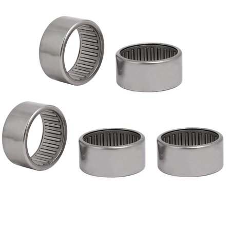 HK3520 42mmx35mmx20mm Drawn Cup Open End Needle Roller Bearing Silver Tone 5pcs Silver Tone Open End